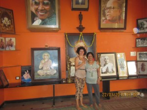 With Saraswati, the teacher